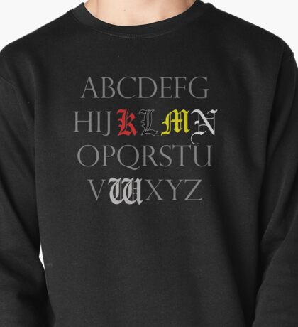 Death Note Alphabet Pullover
