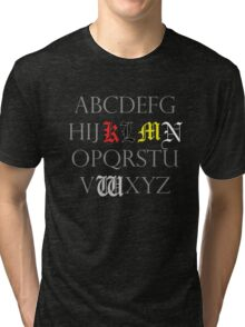 Death Note Alphabet Tri-blend T-Shirt