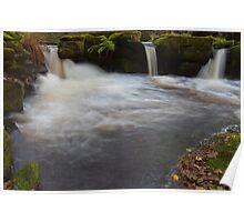 Waterfall, River Derwent. Poster
