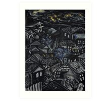 Wonky Windows - Windy Night Art Print