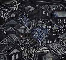 Wonky Windows - Windy Night by Julie-Ann Vellios
