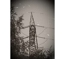 Electricity (black and white) Photographic Print