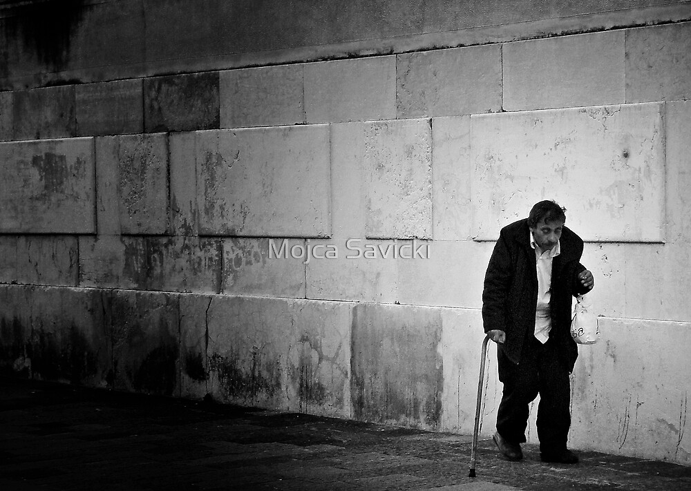 Man With A Plastic Bag by Mojca Savicki