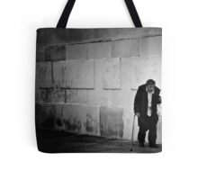 Man With A Plastic Bag Tote Bag