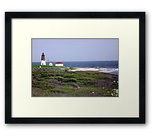 The Point Judith, RI Lighthouse [12] Framed Print