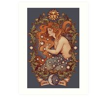 COSMIC LOVER - Color version Art Print
