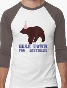 Bear Down For Midterms Men's Baseball ¾ T-Shirt