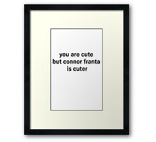 connor cute Framed Print