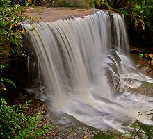 Somersby Falls 6-11-10 (side shot). by Warren  Patten