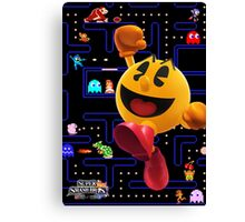 Pac-Man Hungers for Battle! Canvas Print