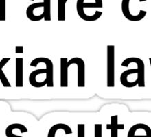 kian cute Sticker