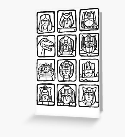Transformers Rogue Gallery Greeting Card
