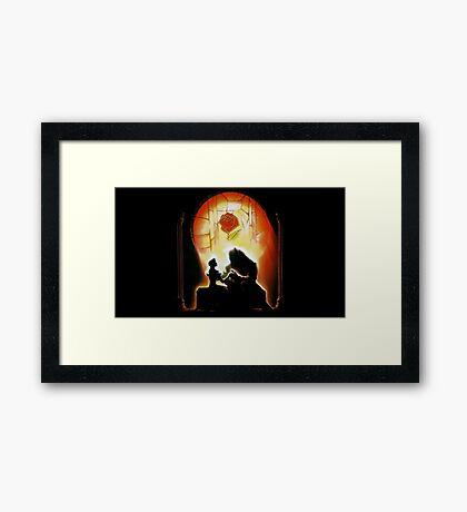 Beauty & The Beast Framed Print