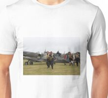 Spitfire at Commemoration of The Hardest Day took place at Biggin Hill Airport Unisex T-Shirt
