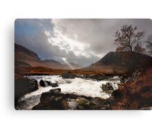 The Wild Glen Etive Canvas Print