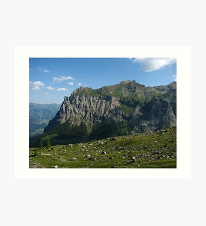 The Spine of Dündenhorn, Switzerland 2015 Art Print