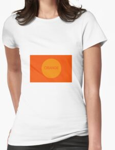 ORANGE Womens Fitted T-Shirt