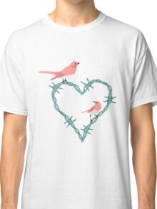 Barbed Wire Heart Birds Classic T-Shirt
