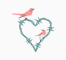 Barbed Wire Heart Birds Unisex T-Shirt