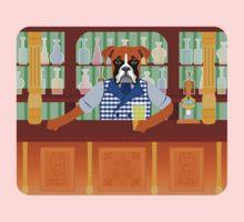 Boxer Dog Beer Pub Kids Tee