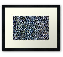 Colourful pebbles background Framed Print