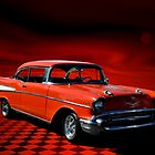1957 Chevrolet Orange Bel Air by TeeMack