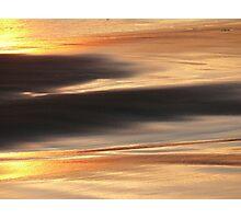 Sand. Sunset Photographic Print