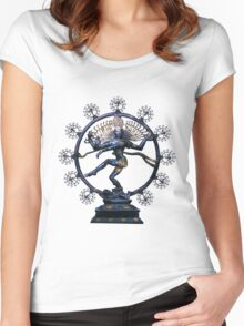 Shiva Nataraj, Lord of Dance (an actual factual fractal)  Women's Fitted Scoop T-Shirt