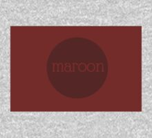 MAROON One Piece - Long Sleeve