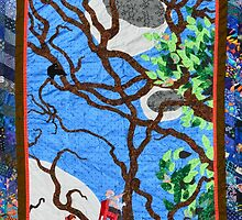 Three Flying Chairs - A Quilt by Nancy Mauerman