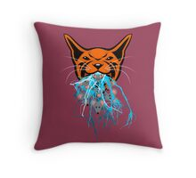 Cat Barf Mouse Heads Throw Pillow