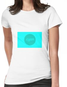 CYAN Womens Fitted T-Shirt