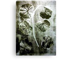 November's Garden 4 Green - Monoprint Canvas Print
