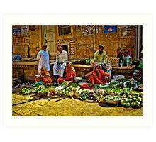 Market - Jaisalmer Art Print