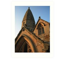 Clerical architecture. Art Print