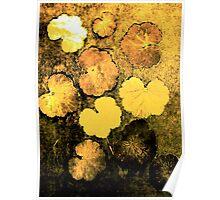 Novembers Garden 5 Yellow - Monoprint Poster