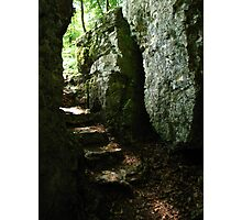 Aged Stone Stairs, Wolfsschlucht, Schwarzwald, Germany 2015 Photographic Print