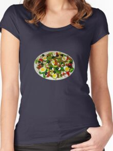 Spinach Salad Women's Fitted Scoop T-Shirt