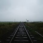 Dark train track by Jodie E