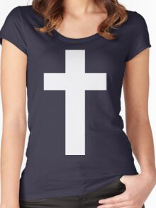 Cross (Faithful to God) [dark] Women's Fitted Scoop T-Shirt