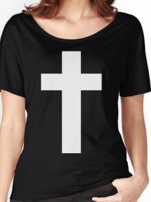 Cross (Faithful to God) [dark] Women's Relaxed Fit T-Shirt