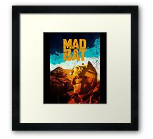 Mad Bat Framed Print