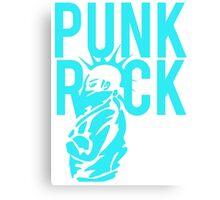 Punk Rock Wild Hair Mohawk Grunge Canvas Print