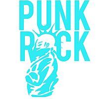 Punk Rock Wild Hair Mohawk Grunge Photographic Print