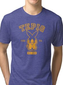 Tepig - College Style Tri-blend T-Shirt