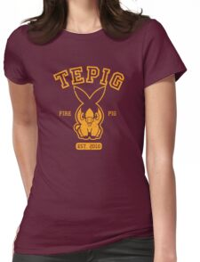 Tepig - College Style Womens Fitted T-Shirt