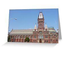 Memorial Hall, Harvard University Greeting Card
