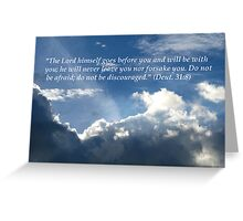 Hope Series: Deut. 31:8 Greeting Card