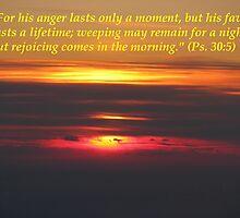 Hope Series: Psalm 30:5 by hummingbirds