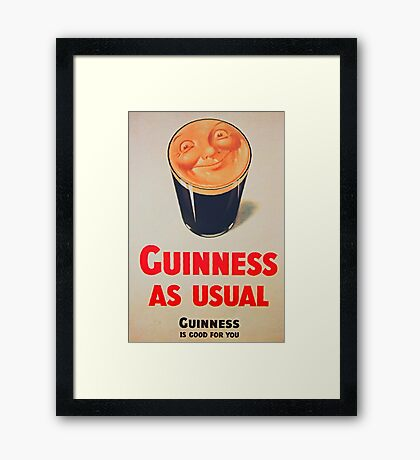 Guinness as Usual! Framed Print